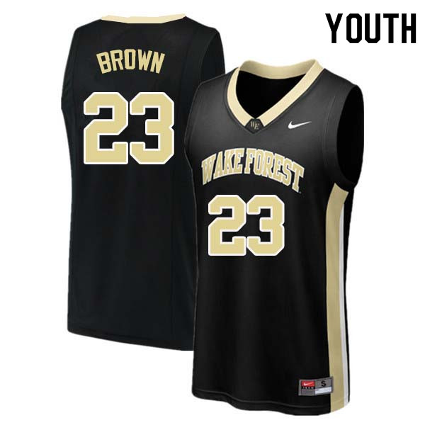 Youth #23 Chaundee Brown Wake Forest Demon Deacons College Basketball Jerseys Sale-Black